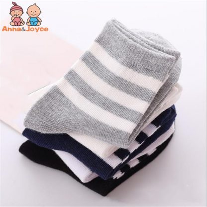 10pcs 5 pairs lot Spring and autumn Children socks Boys and girls 1 10 year Cotton 2