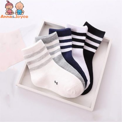 10pcs 5 pairs lot Spring and autumn Children socks Boys and girls 1 10 year Cotton