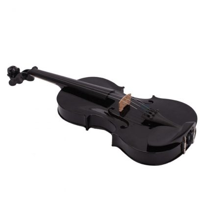 4 4 Full Size Acoustic Violin Fiddle Black with Case Bow Rosin made from composite wood 1