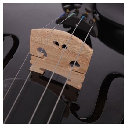 4 4 Full Size Acoustic Violin Fiddle Black with Case Bow Rosin made from composite wood 2