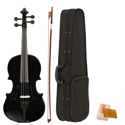 4 4 Full Size Acoustic Violin Fiddle Black with Case Bow Rosin made from composite wood