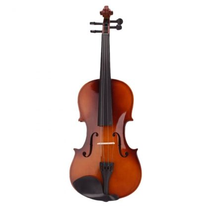 4 4 Full Size Natural Acoustic Violin Fiddle With Case Bow Rosin Mute Stickers Solid wood 2