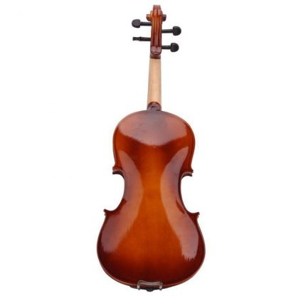 4 4 Full Size Natural Acoustic Violin Fiddle With Case Bow Rosin Mute Stickers Solid wood 3