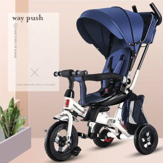 4 In 1 Infant Tricycle Folding Rotating Seat Baby Stroller 3 Wheel Bicycle Kids Bikes Three