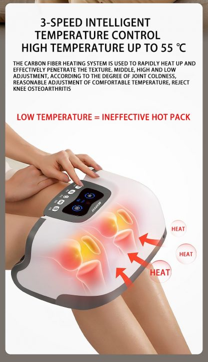4D Double Knee Massager Infrared Heating Massage High Frequency Vibration Magnetic Effect Knee Therapy Instrument 3