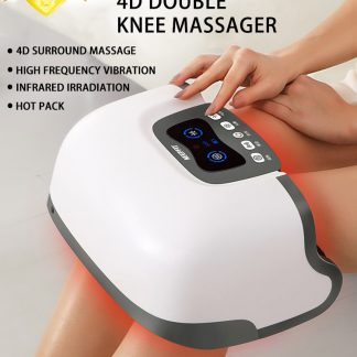 4D Double Knee Massager Infrared Heating Massage High Frequency Vibration Magnetic Effect Knee Therapy Instrument