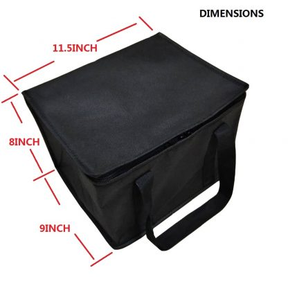 4Pack Reusable Insulated Lunch Bag Collapsible Food insulation bag Food Delivery Great for Grocery Shopping Black 3