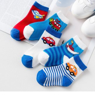 5Pairs lot Thicken Comfort Cotton Spring Fall Newborn Boy Kids Socks Baby Breathable Socks