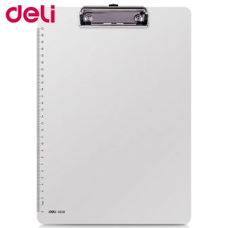 Deli writing board clamp pp material A4 pad plate clip plastic hanging workshop office stationery board