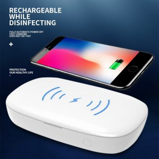 Disinfection Box Jewelry Phones Cleaner Personal UV light sterilizer box Wireless Charging Quick Disinfection with Lamp
