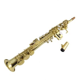Eb Sopranino Saxophone Yellow brass sax instruments with Foambody case musical instruments