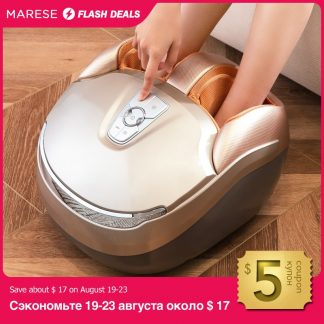 MARESE Electric Foot Massager Machine With Deep Vibration Massage Heated Rolling Kneading Air Compression Fits For