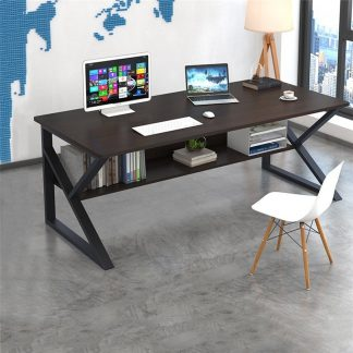 Modern Black White Computer Study Desk Standing Desk Economic Computer Table Bedroom office living romm furniture