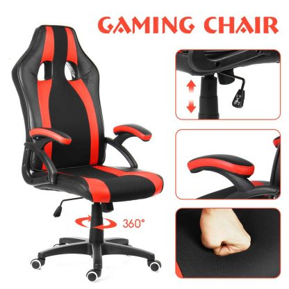Office Chairs Adjustable Reclining Gaming Chair Swivel High Back Executive Desk Computer Chair Armchairs Furniture 1