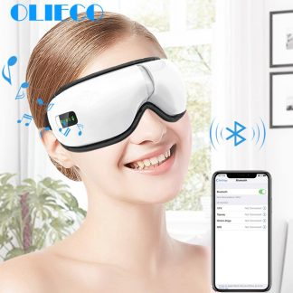 Rechargeable Eye Therapy Massager Electric Bluetooth Music Eye Massage SPA Collapsible Air Pressure Heating Eye Fatigue