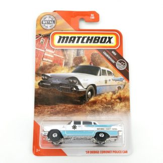 2020 Matchbox Car 1 64 Sports car 59 DODGE CORONET POLICE CAR Metal Material Body Race