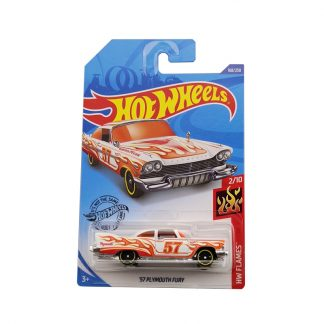 HotWheels C4982 Hot little sports car Alloy car Plymouth 57 PLYMOUTH FURY Toys For Childen Collect