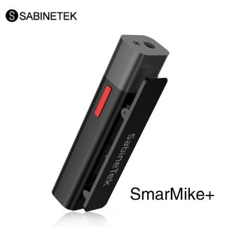 SabineTek SmartMike Wireless Lavalier Microphone Rechargeable Bluetooth Clip on Lapel Mic Noise Cancellation for iPhone Android