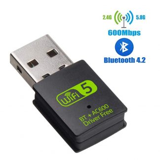 USB WiFi Bluetooth Adapter 600Mbps Dual Band 2 4 5Ghz Wireless External Receiver Mini WiFi Dongle
